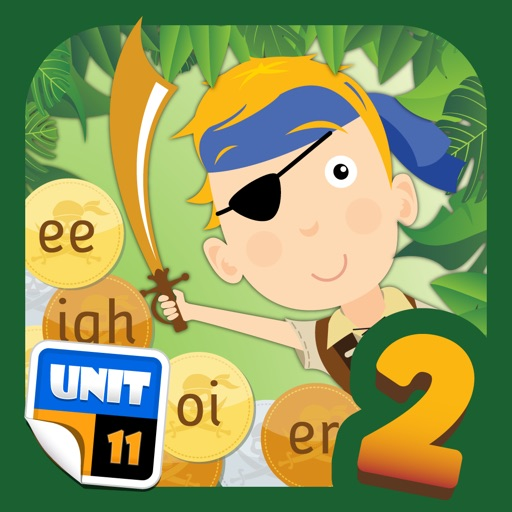 Pirate Phonics 2 : Kids learn to read! Icon