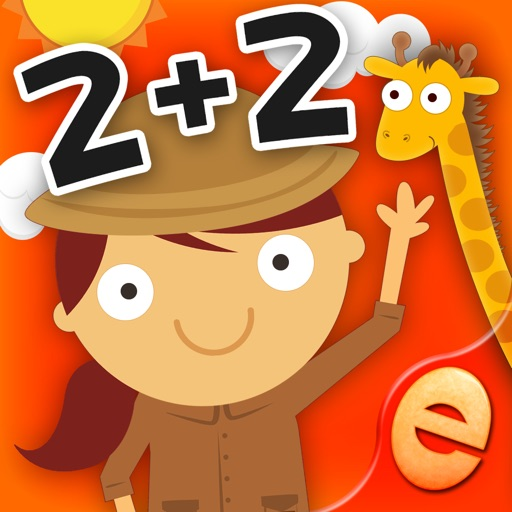 動物數學遊戲的孩子