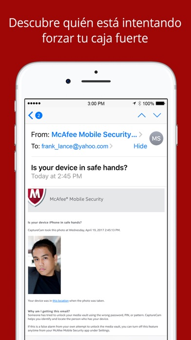 Seguridad Móvil McAfee Screenshot