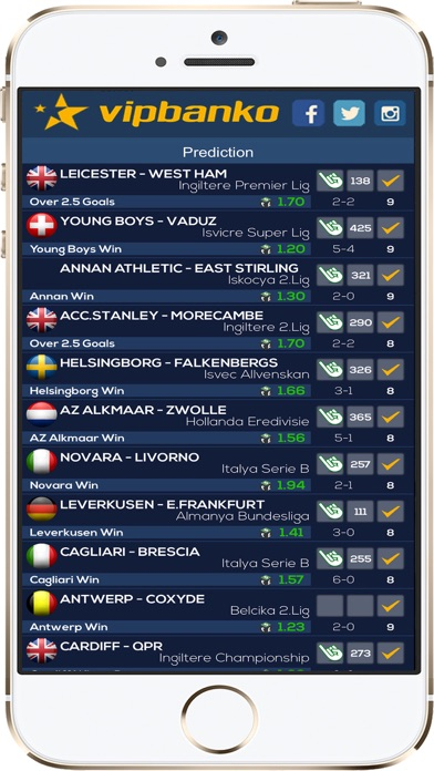 VIPBANKO Insider Betting Tips Screenshots