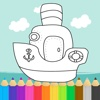 Boat Coloring Book - Learning Vehicle for Kids