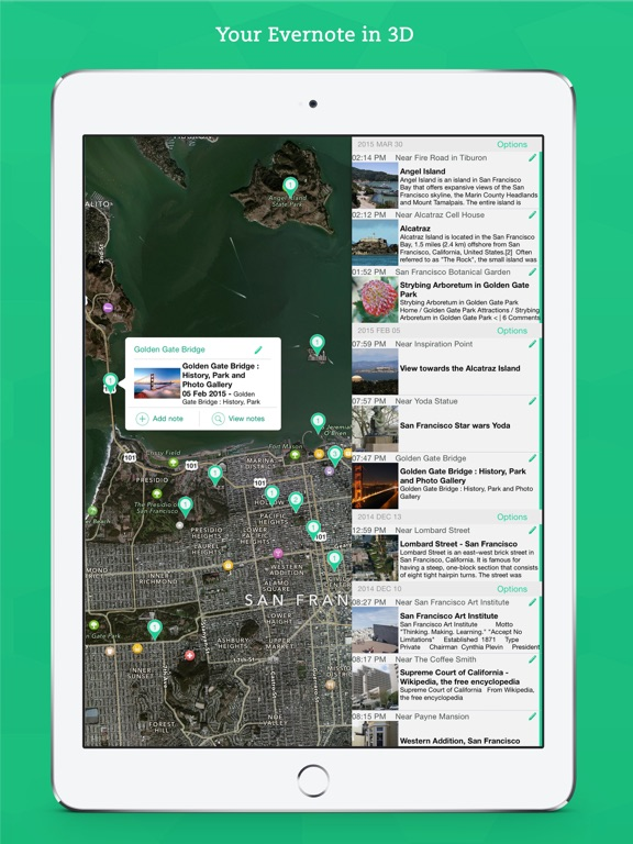 IdeaPlaces - Maps for Evernote, Dropbox, Photos Screenshots