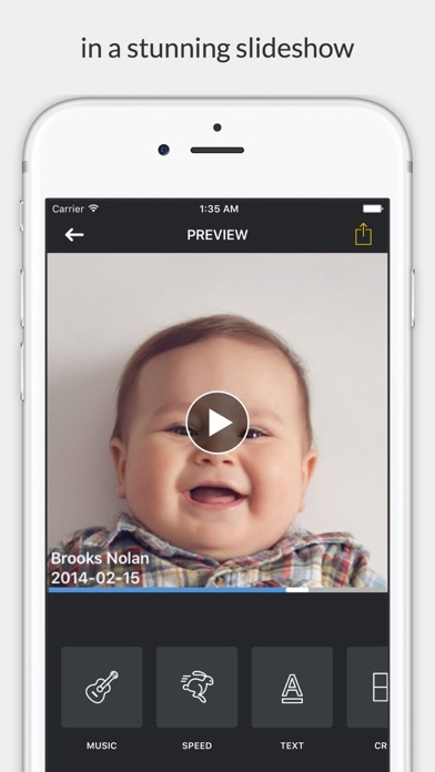 Facelapse - face changes over time in slideshow Screenshot
