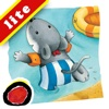 """Miko Goes on Vacation: An interactive bedtime story book for kids about Miko's first beach holiday,  where he enjoys swimming and making new friends,  by Brigitte Weninger illustrated by Stephanie Roehe. (iPad """"Lite"""" version; by Auryn Apps)"""