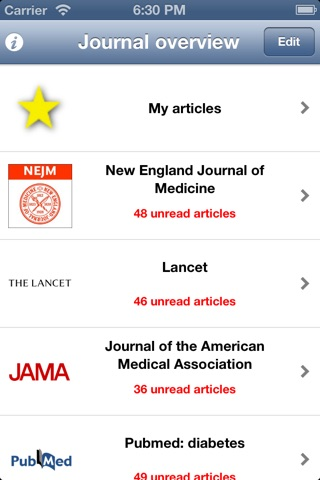 Journal Scan Internal Medicine screenshot 1