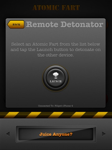 Screenshots of Atomic Fart FREE for iPad