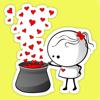 LOVE Stickers & FLIRTY Emoji Free for WhatsApp & Viber!