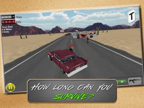 Screenshot #5 pour Drive with Zombies 3D