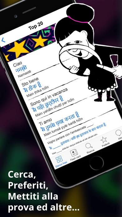 Screenshot of Hindi Dizionario - Frasario offline gratis con flash card e registrazioni di un madrelingua4