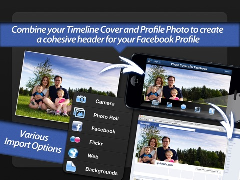Screenshot #1 for Photo Covers for Facebook: Timeline Editor
