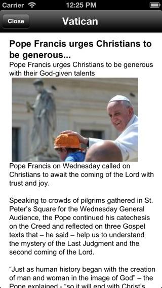 Botschaften vom Papst - Catolicapp.org Screenshot