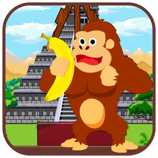 Feed Hungry Gorilla in Jungle - Monkey jumping game and feeding bananas iOS App