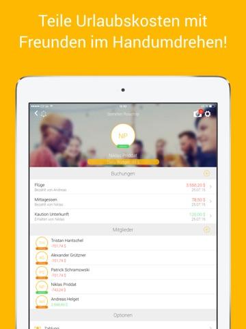 TravelMate - Reisekosten aufteilen! Screenshot