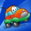 活躍!汽車及汽車遊戲為幼兒學習的幼兒園和 幼兒園