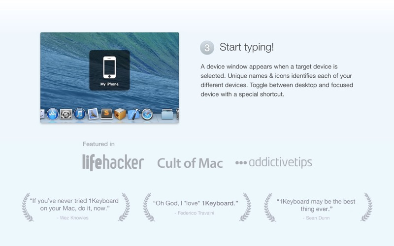 1Keyboard Screenshot