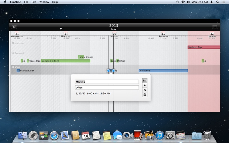 Timeline - Calendar on the Mac App Store