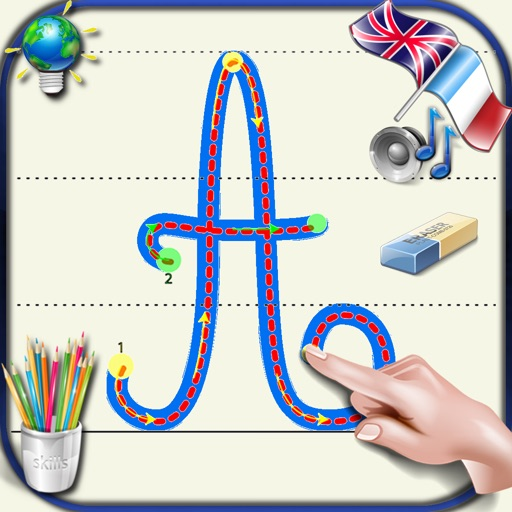 Aprender A Escribir Letras Cursivas Del Alfabeto En Mayúsculas Y Minúsculas Con Los Sonidos En Inglés Y Francés Lo Básico Para Niños