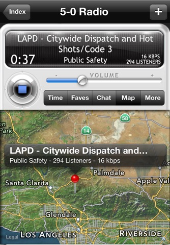 5-0 Radio Pro Police Scanner (Extra Feeds) screenshot 3