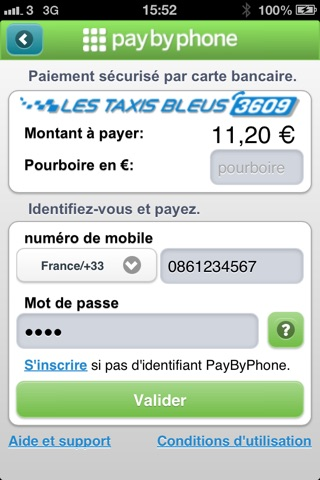 paybyphone taxis bleus app insight download. Black Bedroom Furniture Sets. Home Design Ideas
