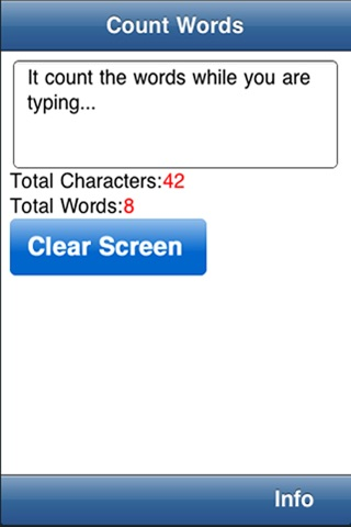 Count Words & Characters screenshot 1