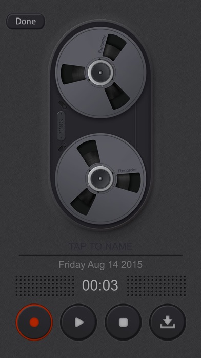 Screenshots of Voice Manager for Audio Recording, Playback, Trimming and Sharing for iPhone