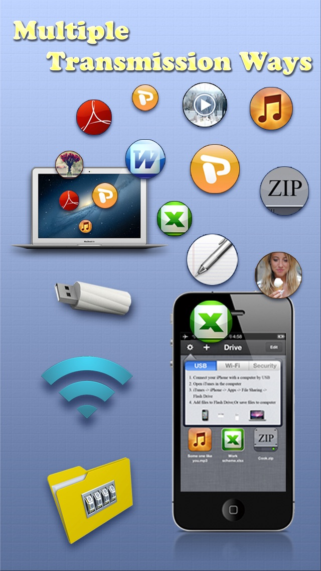 download USB & Wi-Fi Flash Drive – Free Document Manager & iFile Explorer App apps 4