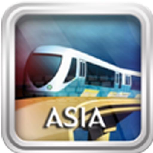 亚洲地铁地图:Asia Metro Maps