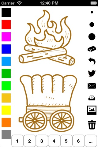 Wild West Coloring Book for Children: Learn to color a cowboy, native American, horse buggy and more screenshot 3