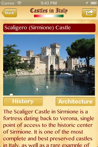 Castelli d'Italia Lite screenshot 2
