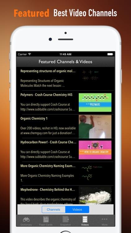 Organic Chemistry Glossary: Cheatsheet with Study Guide by Monica G