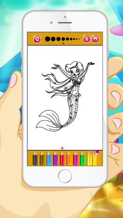 マーメイドぬりえ - 子供と幼児のための教育のぬりえゲームのスクリーンショット3