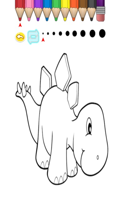 Screenshot of Kids Coloring Book - Cute Cartoon dinosauro Miyashita3