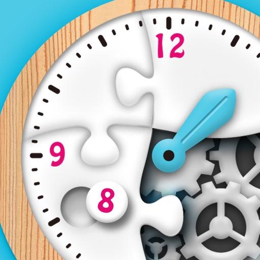時計くみたてパズル - 楽しく学ぶ!時計の読み方