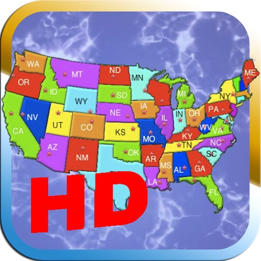 Advanced Puzzle Map Of USA HD iOS App