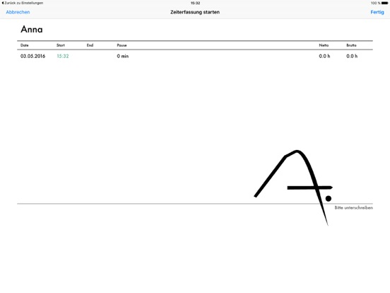 Papershift Stempeluhr Screenshot