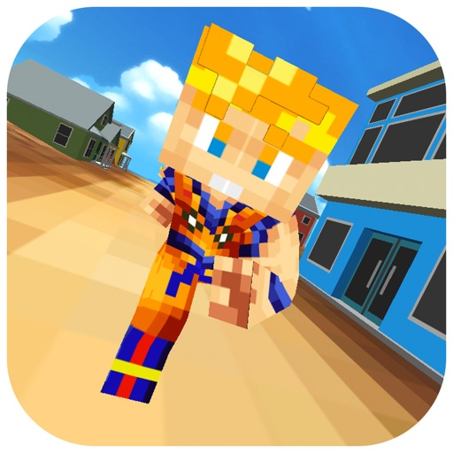 3D Dragon Craft Super-Hero Run - For Steppy Goku DBZ Super-Saiyan iOS App