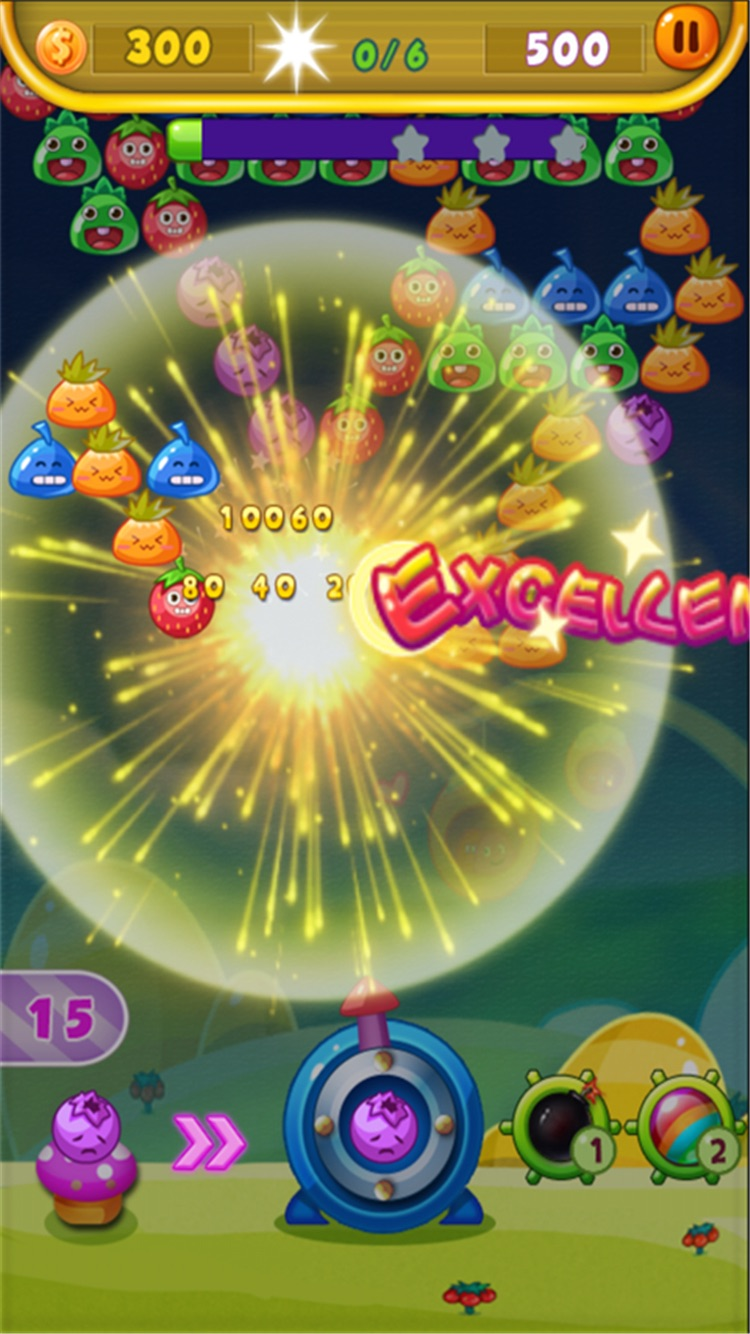 Bubble fruits game - Happy Bubble Fruit