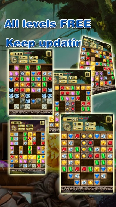 Super Gem Quest - Gem & Diamond Match 3 Crush Mania (Make Big Blast of 2016) screenshot four