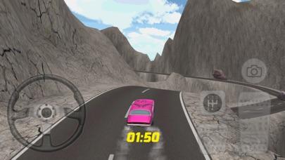 スーパーピンクの車のレースゲームのスクリーンショット2