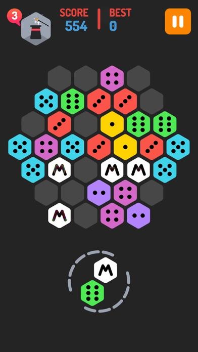 Make M! Hexa Puzzle - Merged block dominos mekorama game screenshot two