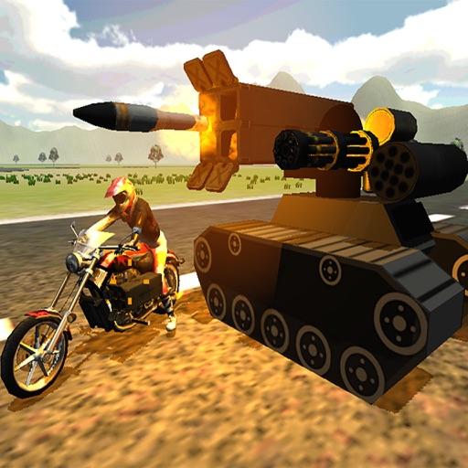 Gunship Bike Rider Ground Force Strike : Tanks Battle Action Games iOS App