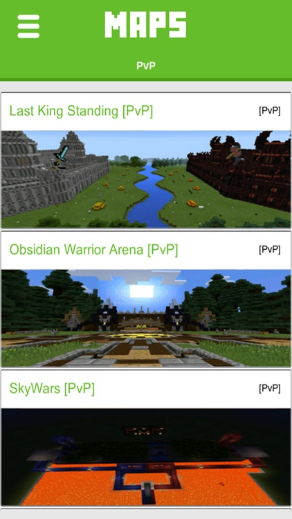 PvP Maps for Minecraft PE - Best Map Downloads for Pocket