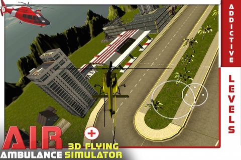 Air Ambulance Flying Simulator 3D: Fly Real Emergency Air Ambulance & Rescue People screenshot 2
