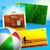 Cartões postais personalizados - Mensagens de Boas Férias + Saudações Férias de Verão