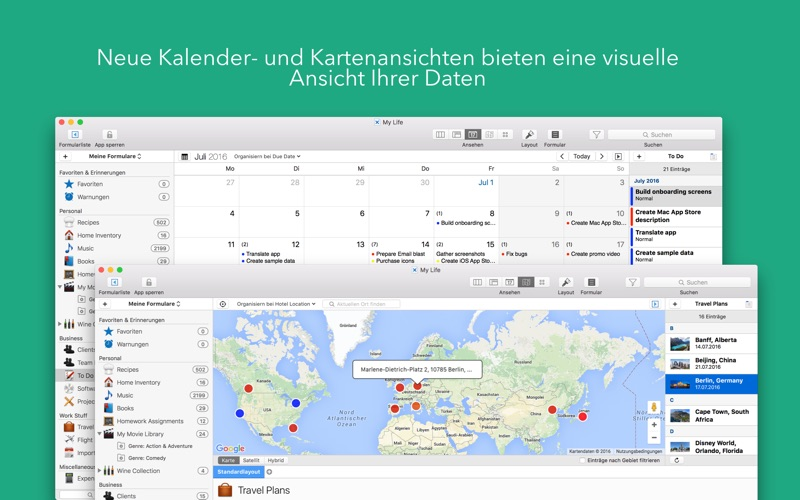 Tap Forms Organizer 5 Database Bei Tap Zapp Software Inc.