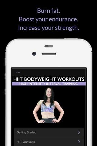 HIIT Bodyweight Workouts: High Intensity Interval Training screenshot 2
