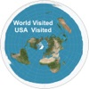 Visited USA States and World Countries