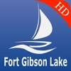 Fort Gibson lake GPS nautical charts Pro