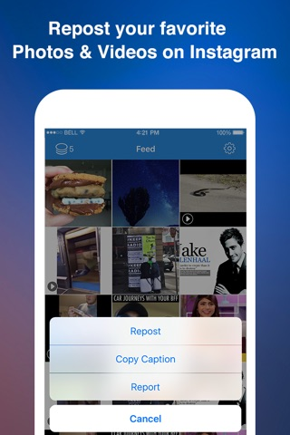 Instagrab Repost for Instagram - Repost Photos and Videos on Instagram screenshot 1