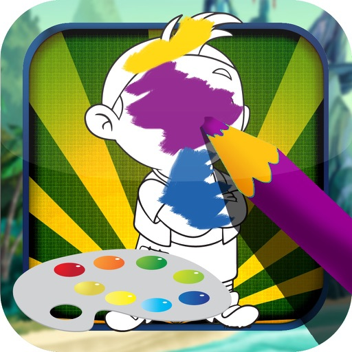 Color Book Game For Kids: Jake and the Neverland Pirates Version iOS App